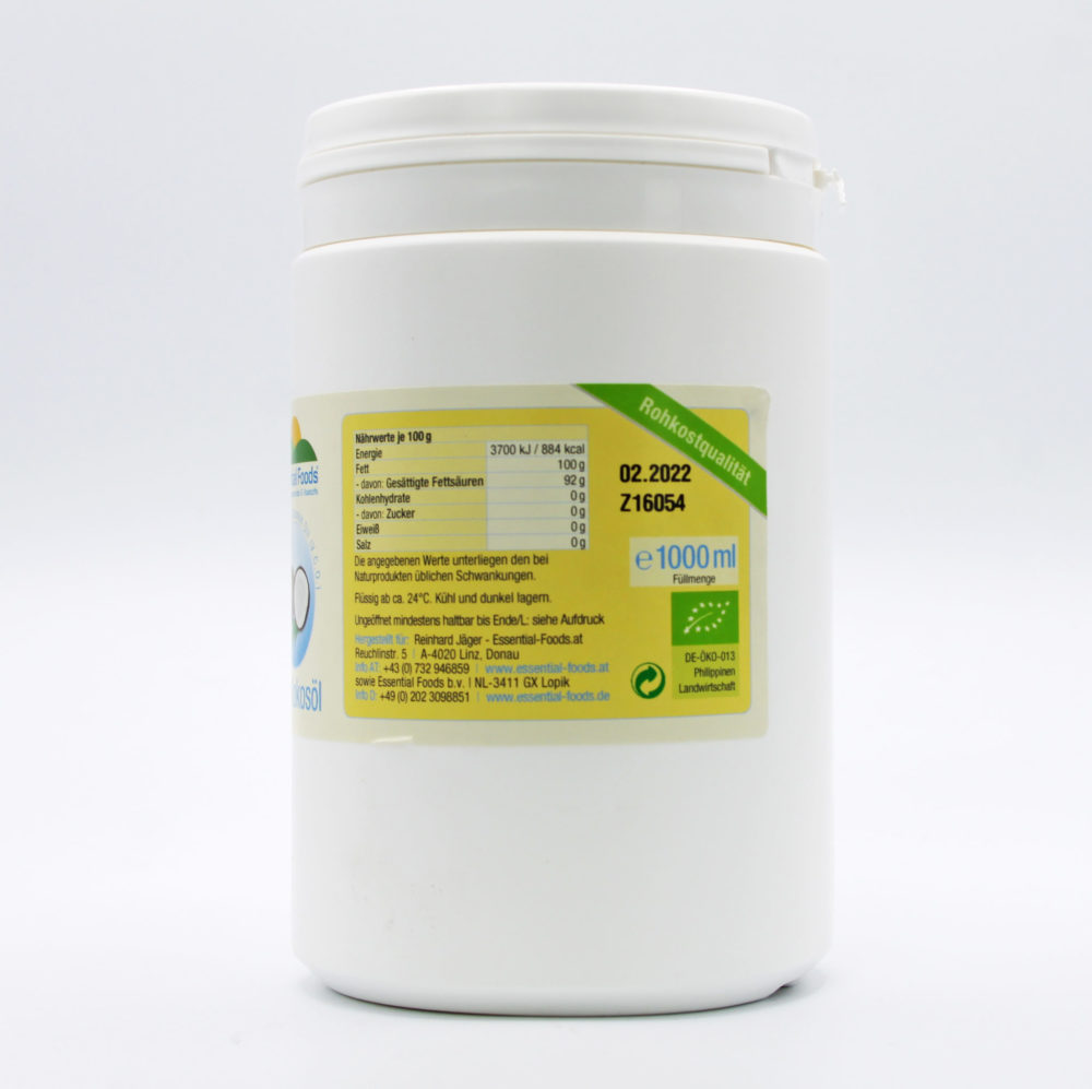 Kokosöl bio - Virgin Coconut Oil (V.C.O.) 1