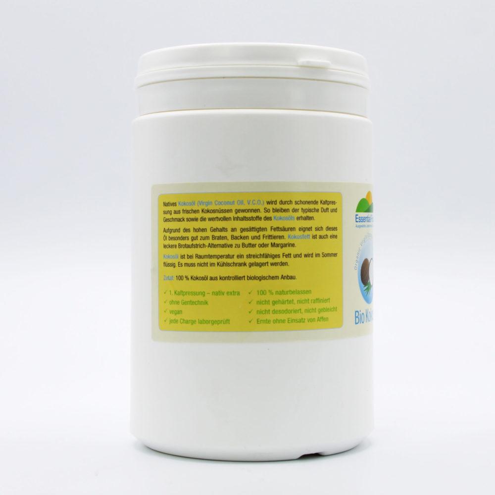 Kokosöl bio - Virgin Coconut Oil (V.C.O.) 2