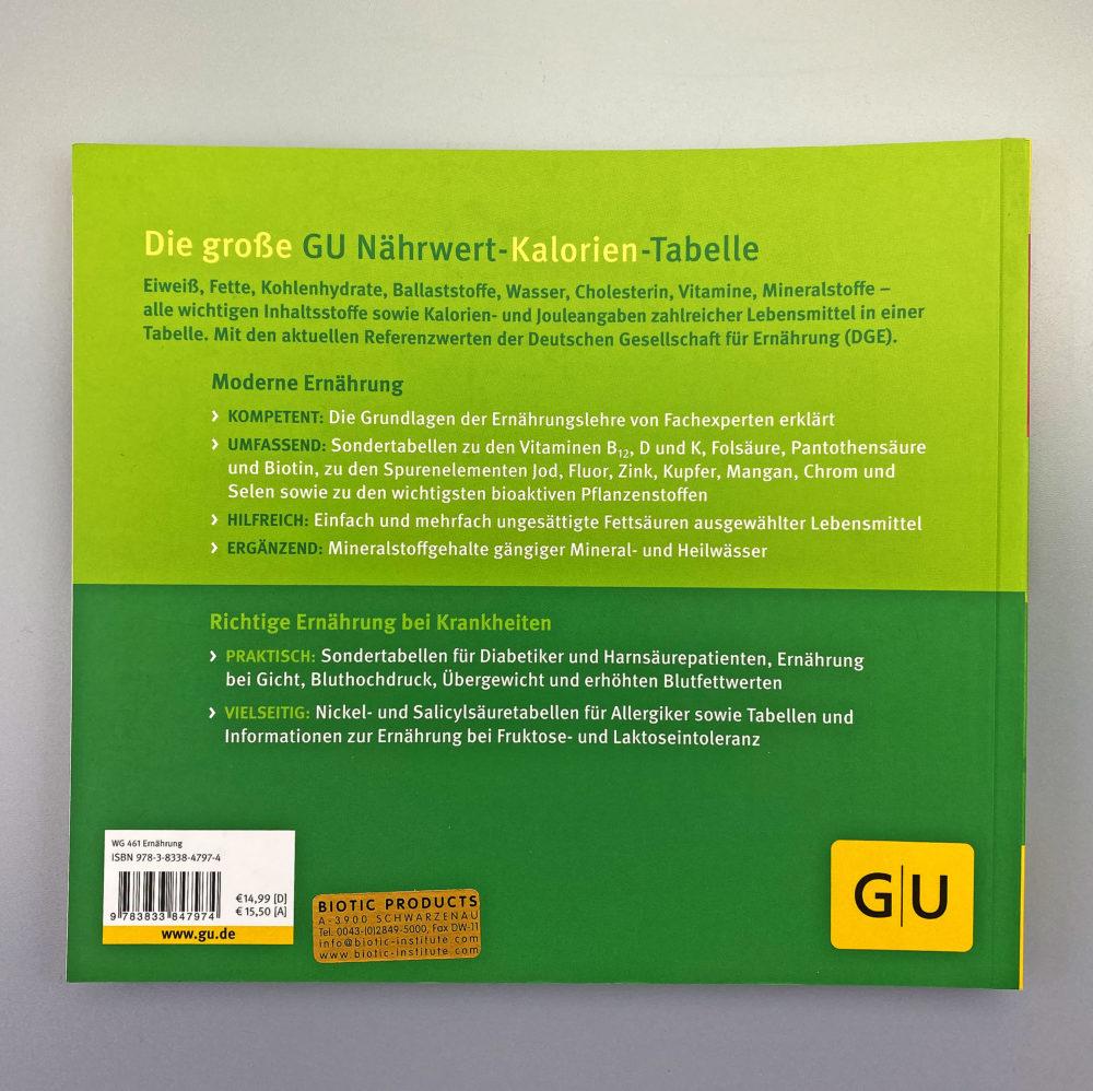 Buch | GU Nährwert Kalorien Tabelle 1