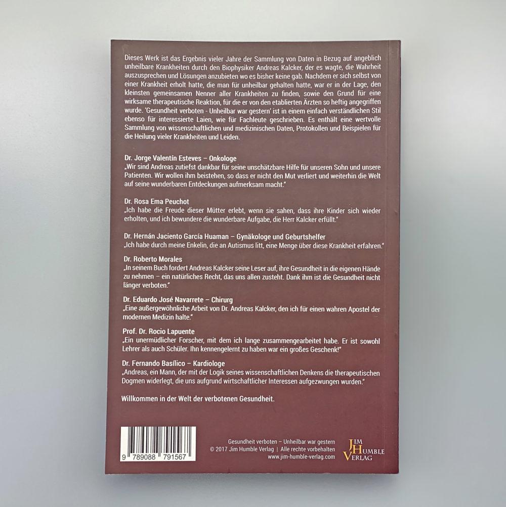 Buch | Gesundheit verboten - unheilbar war gestern 1